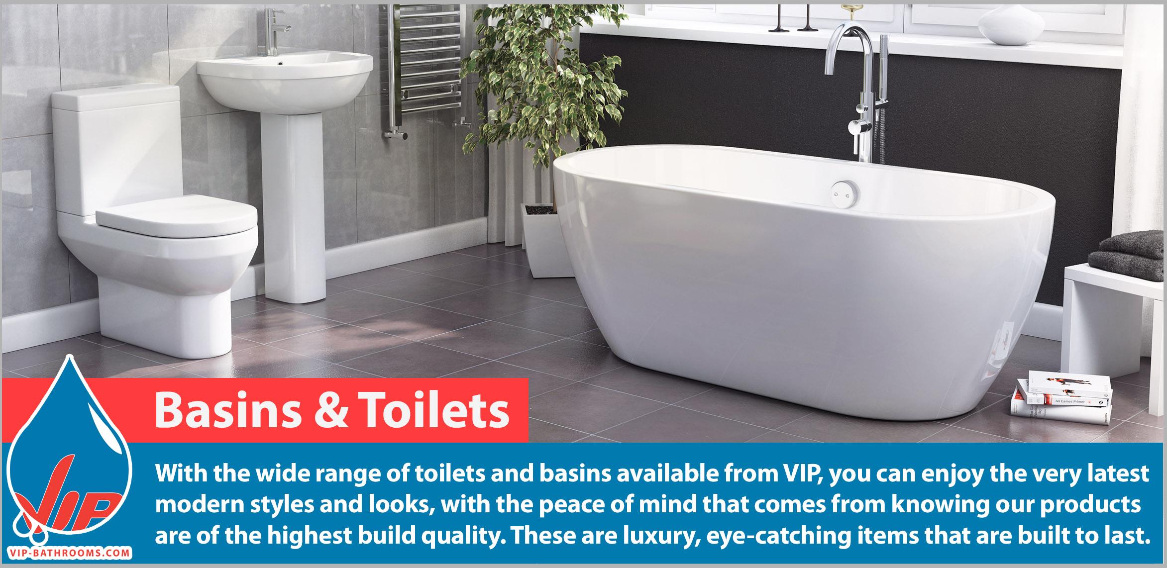 Basins & Toilets   VIP-Bathrooms.com