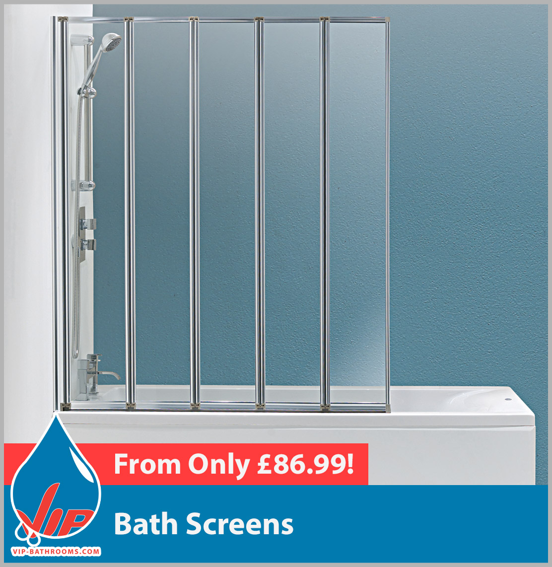 Shower Enclosures & Bath Screens | VIP-Bathrooms.com