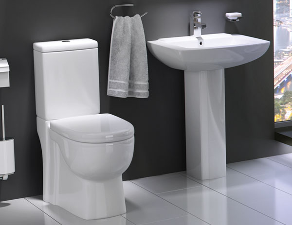 Cloakroom four piece bathroom suites vip for Bathroom toilet and sink set