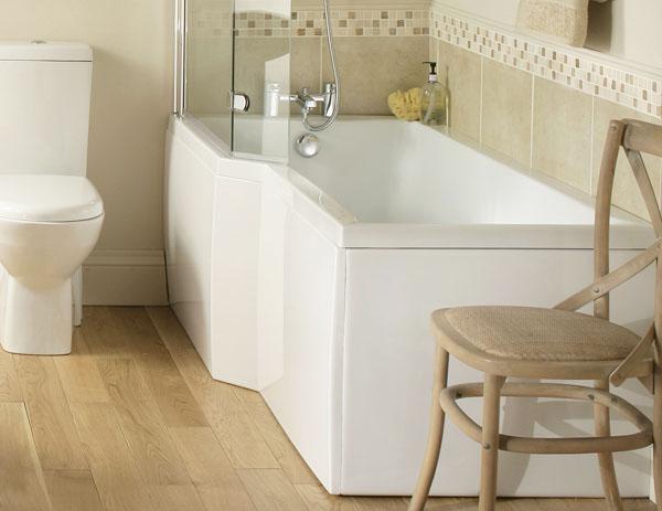 Vs Full Bathroom En Suite Bathroom: Sorea M100 L Shaped Shower-Bath Suite