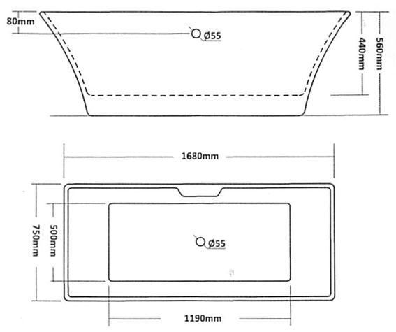 Only chatham modern freestanding bath vip for Freestanding bath sizes