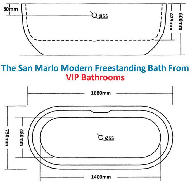 only san marlo modern freestanding bath vip