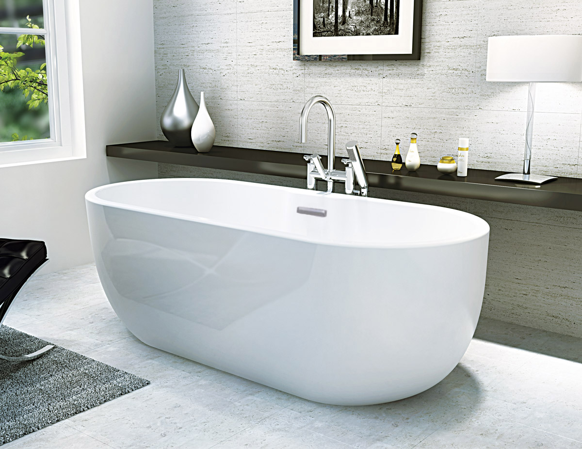 Only £549.99! | San Marlo Modern Freestanding Bath | VIP-Bathrooms.com