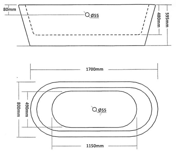 Freestanding Bathtubs Dimensions