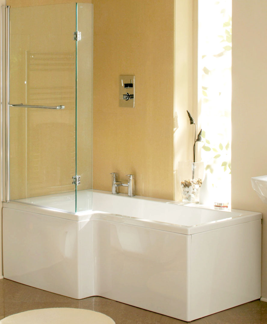 Only gbp17799 synergy elite l shaped shower bath vip for Bath bathroom