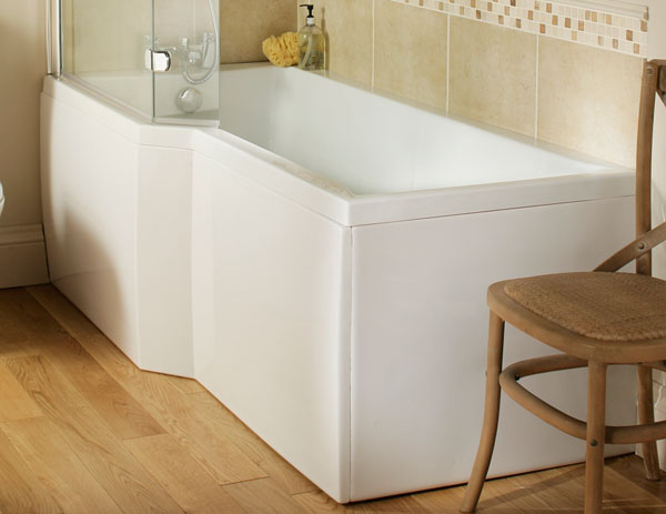 The Synergy M100 L Shaped Shower Bath From VIP Bathrooms
