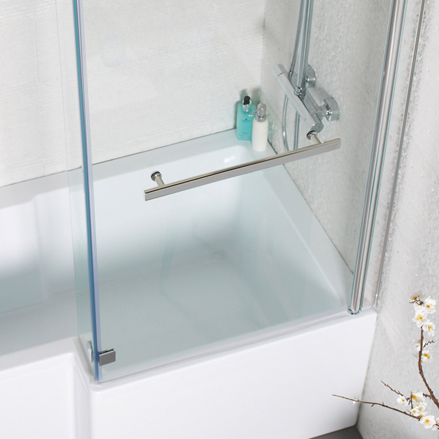 Only £133.99! | Tetris L Shaped Shower Bath by K-Vit / Kartell | VIP ...