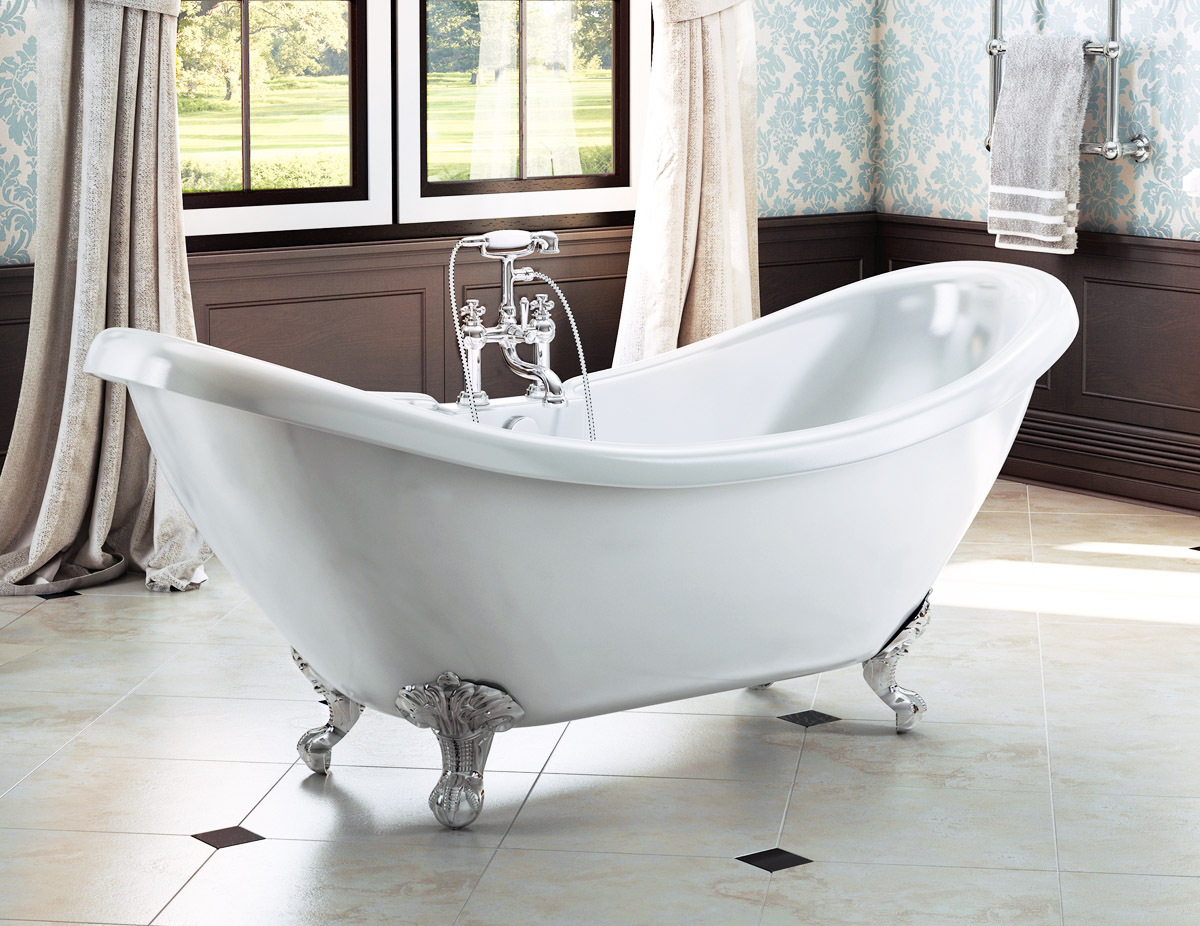 The Marlow Traditional Freestanding Double Slipper Bath From VIP Bathrooms