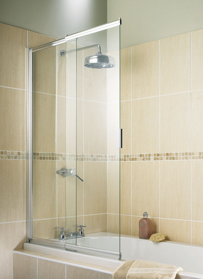 Only 163 136 99 Aquarius 2 Panel Slider Bath Screen Vip