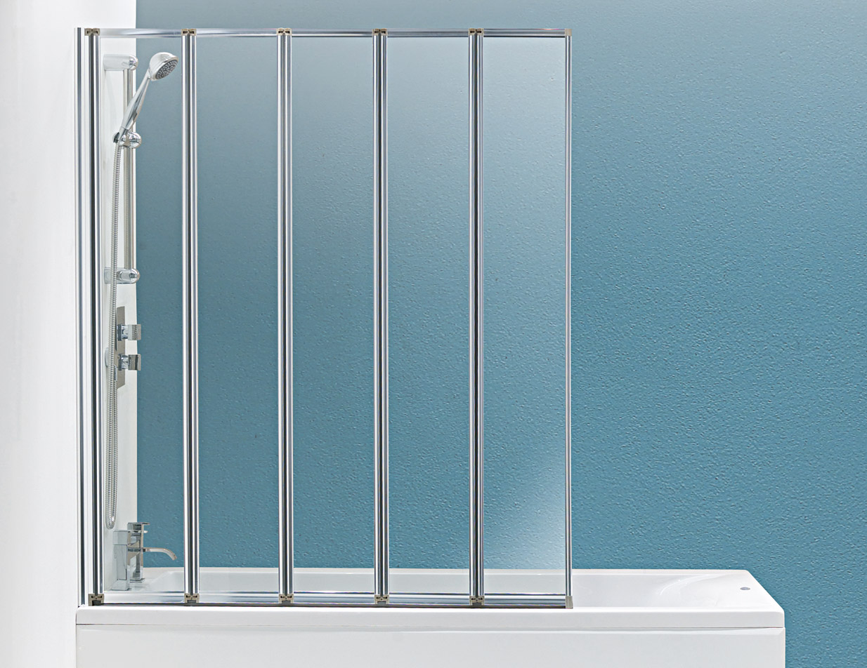 Only £153.99! | Hydro 5 Panel Silver Folding Bath Screen | VIP ...