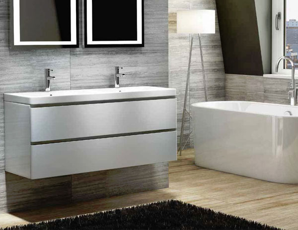 Combine stunning styles with simple storage to de-clutter your bathroom
