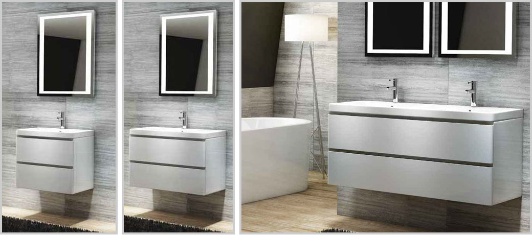 Bathroom Furniture Modern On The Linea Wall Units Pictured Above Are Available In Sizes 600mm left 800mm centre And 1200mm right From Only 16799 White Modern Bathroom Vanity Unit u0026 Basin