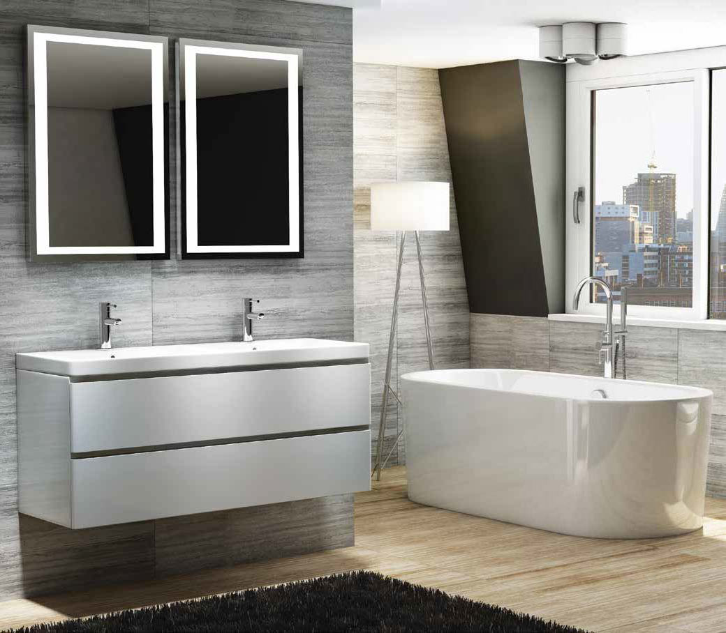 From Only £10.10!  Linea White Modern Bathroom Vanity Unit & Basin