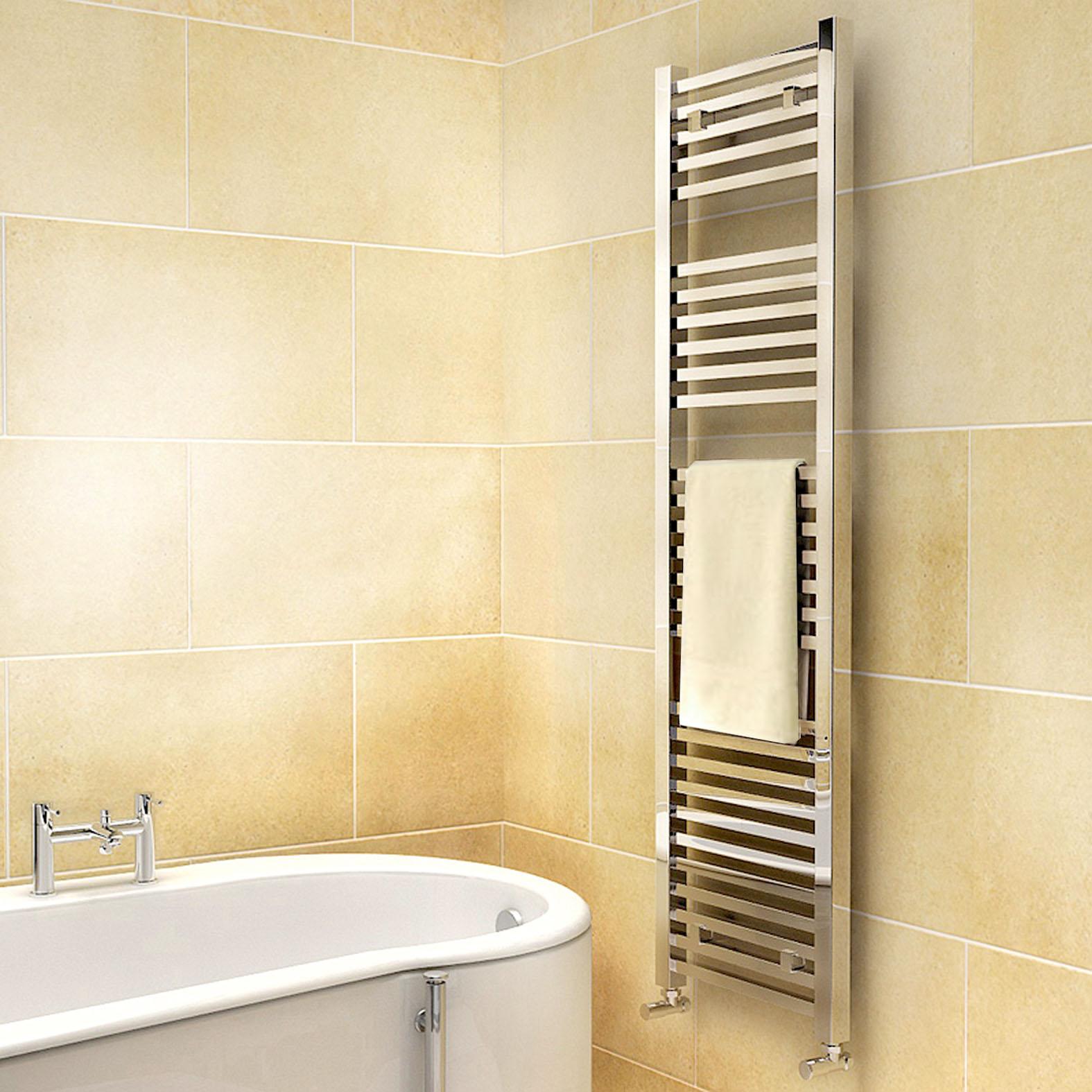 Only 130 99 Synergy Chrome Designer Square Bathroom Ladder Rail Radiator