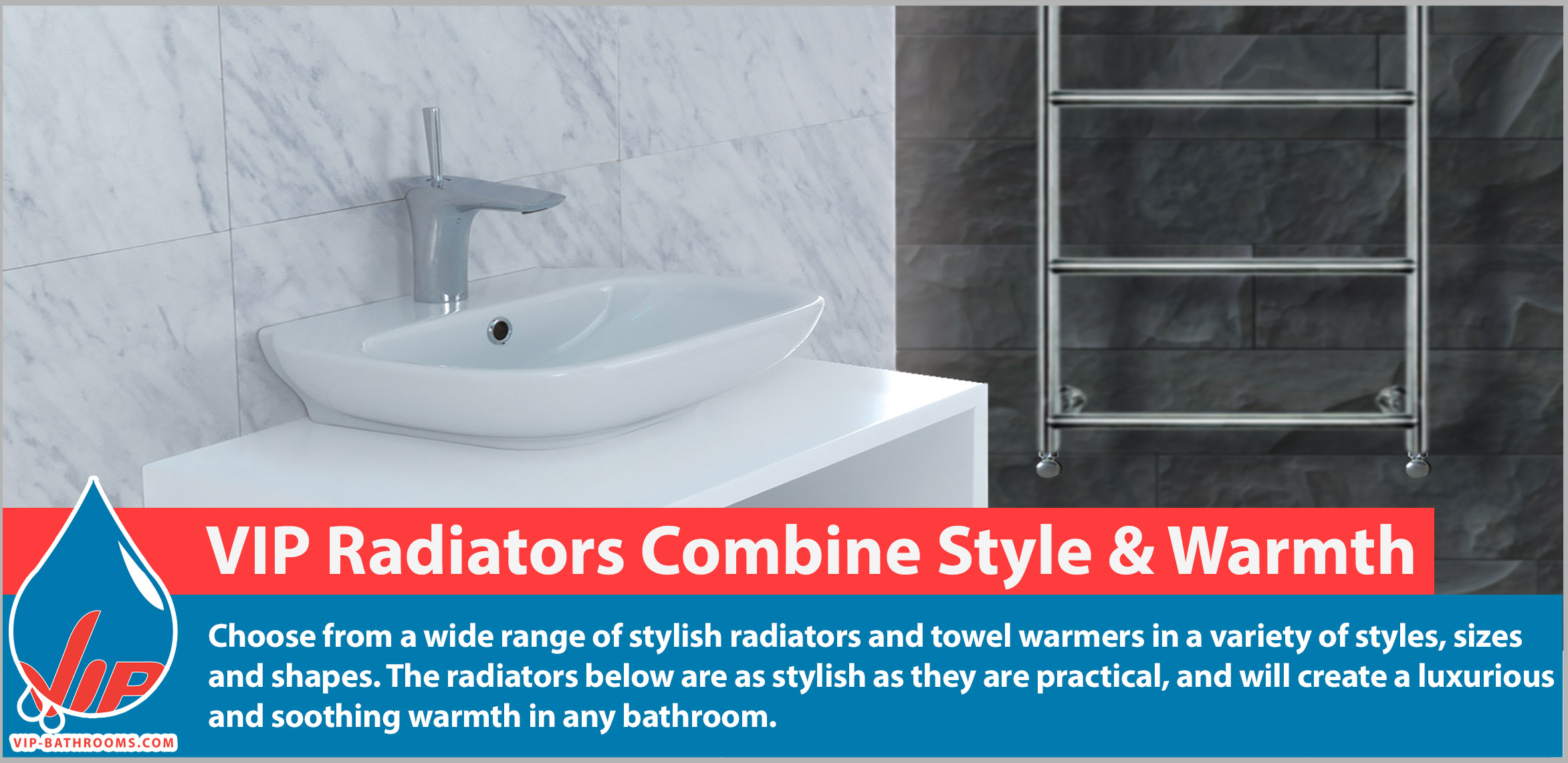 Choose from a huge range of stylish radiators and towel warmers in a wide variety of styles, sizes and finishes. The radiators below are as stylish as they are practical, and will create a luxurious warmth in your bathroom.