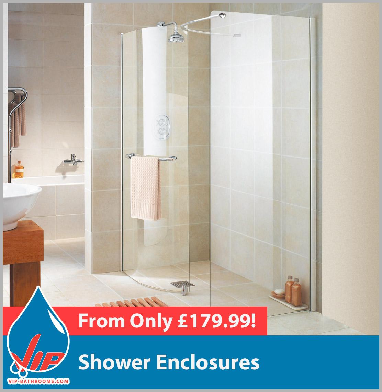 Shower Enclosures & Bath Screens   VIP-Bathrooms.com