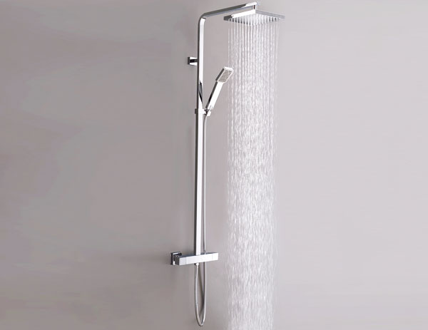 exposed shower system. The SY-JK010-N Thermostatic Square Exposed Dual Bar Valve Shower System From VIP R