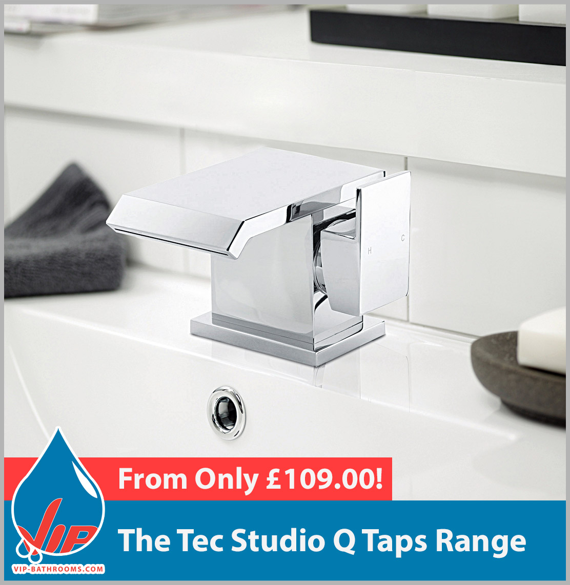 Click here to view the Tec Studio Q range of high quality designer Bathroom Taps