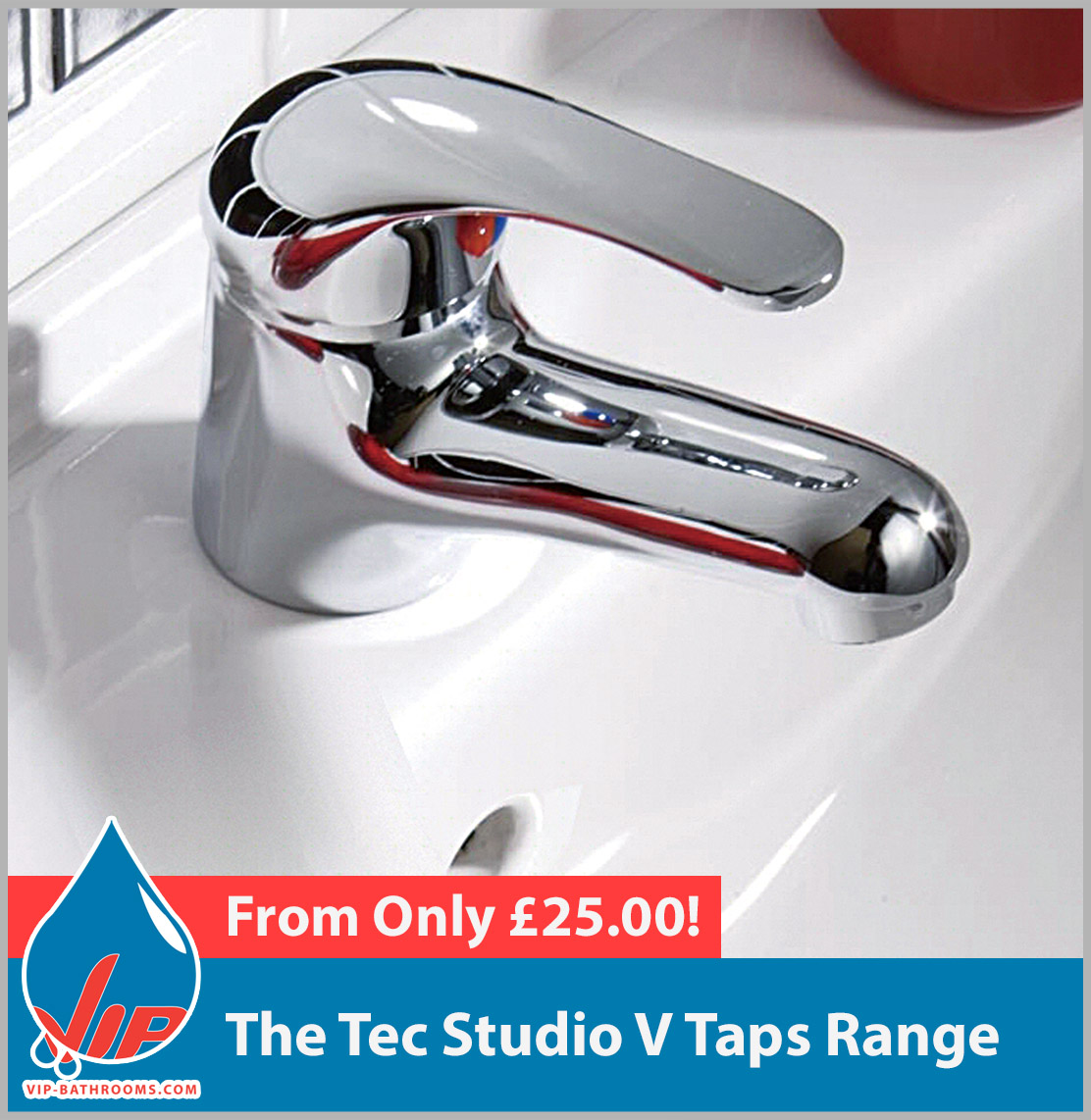 Click here to view the Tec Studio V range of high quality designer Bathroom Taps